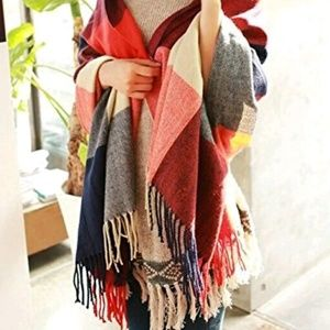 Accessories - Large Plaid Scarf
